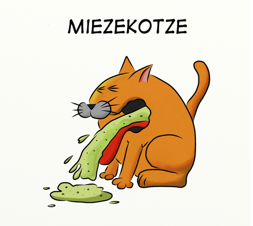 Cartoon: Miezekotze (medium) by bobele tagged katze,kotze