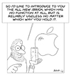 Cartoon: iBrick (small) by bobele tagged apple,iphone,jobs
