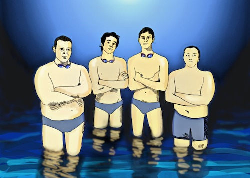 Cartoon: 4 SWIMMERS (medium) by tonyp tagged arp,swimmers