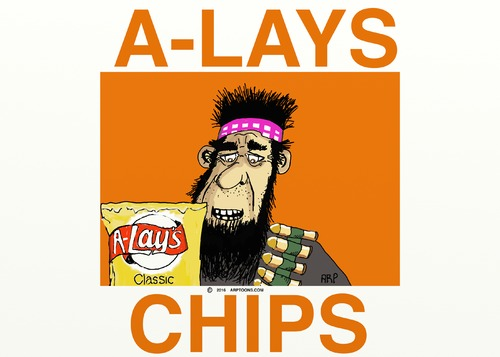 Cartoon: A-LAYS (medium) by tonyp tagged arp,alay,chips,yum,food
