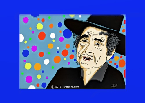Cartoon: BobDylan (medium) by tonyp tagged arptoons,dylan,bob,arp