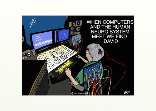 Cartoon: computerman (medium) by tonyp tagged arp,music,mix,neuro,man,arptoons