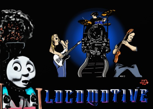 Cartoon: Locamotive music group (medium) by tonyp tagged arp,loco,motive,train,music,young,band
