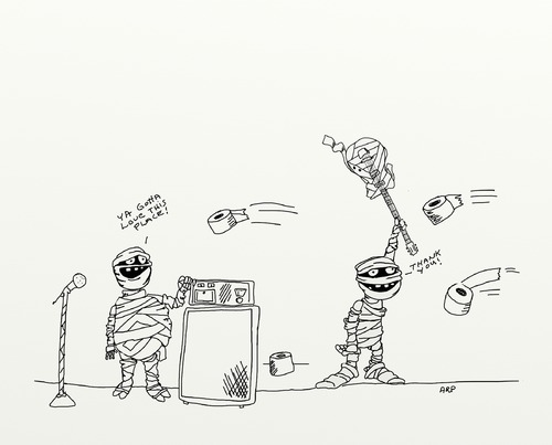 Cartoon: mummy band (medium) by tonyp tagged arp,spooky,mummy,arptoons