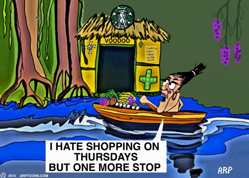 Cartoon: SHOPPING IN THE JUNGLE (medium) by tonyp tagged arp,jungle,shopping,arptoons