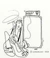 Cartoon: Almost tuned (small) by tonyp tagged arp,arptoons,guitar,tuned