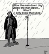 Cartoon: IN THE ZONE (small) by tonyp tagged fisherman,singing,blow,the,man,down,arp