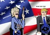 Cartoon: Presidential debate 2016 (small) by tonyp tagged arp,presidential,debate,election,use