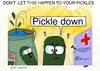 Cartoon: SAVE OUR PICKLES (small) by tonyp tagged arp,pickles,arptoons,drowning,save