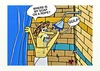 Cartoon: SOAP ON THE ROPE (small) by tonyp tagged arp soap rope shower bath lost
