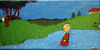 Cartoon: Rolf In Amerrika (small) by The Ripple Brook tagged canvas,comic,tribute,acryl,abstract,painting,nature,calvin,hobbes,shultz,watterson,charlie,brown