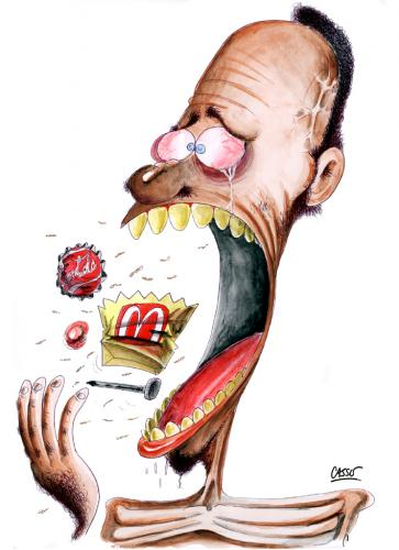 Cartoon: Junk Food (medium) by Carlos Augusto tagged burger,big,poverty,third,world,hunger,coca,cola,coke,donalds