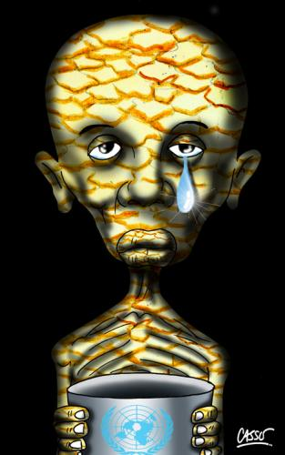 Cartoon: Tear (medium) by Carlos Augusto tagged poverty,third,world,hunger,united,nations