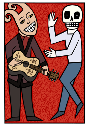Cartoon: Dance (medium) by baggelboy tagged dance,death,devil