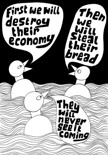 Cartoon: Plan for the future (medium) by baggelboy tagged duck,plan