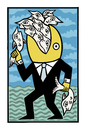 Cartoon: He was a fisher of men (small) by baggelboy tagged fish,food,eat