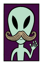 Cartoon: They are among us (small) by baggelboy tagged alien,wave,hello