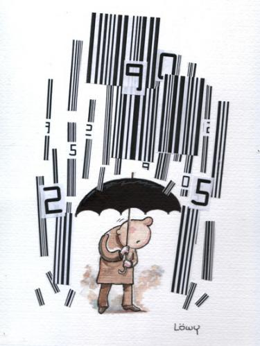 Cartoon: bar codes (medium) by dloewy tagged trade