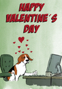 Cartoon: Let me be your Valentine (small) by dogtari tagged valentines,day,beagle,love,computer