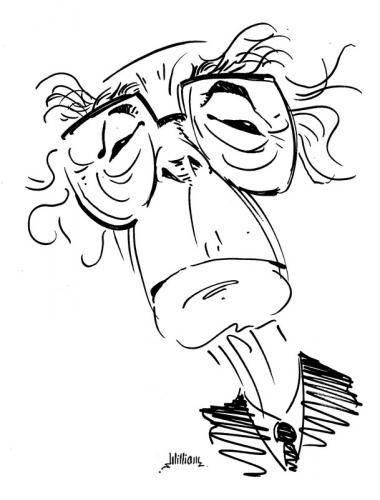 Cartoon: Jose Saramago (medium) by William Medeiros tagged writer,books