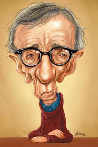 Cartoon: Woody Allen (medium) by William Medeiros tagged actor,director,movie,humour