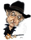 Cartoon: Bob Dylan (small) by William Medeiros tagged music
