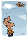 Cartoon: No Words (small) by William Medeiros tagged book,people