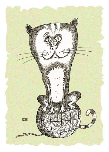 Cartoon: The top of the world (medium) by weiszb tagged cat,hank,the