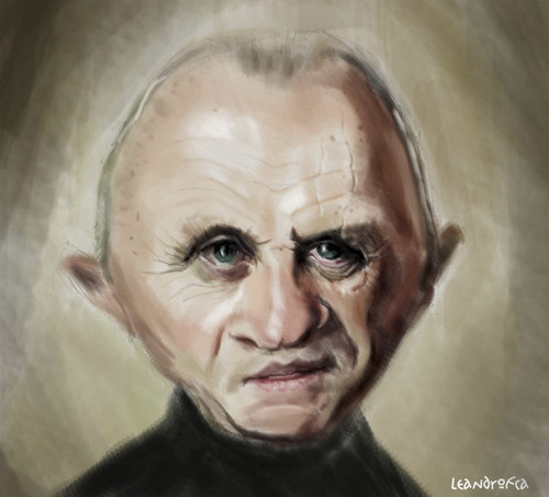 Cartoon: Anthony Hopkins (medium) by leandrofca tagged caricature,art,ilustration