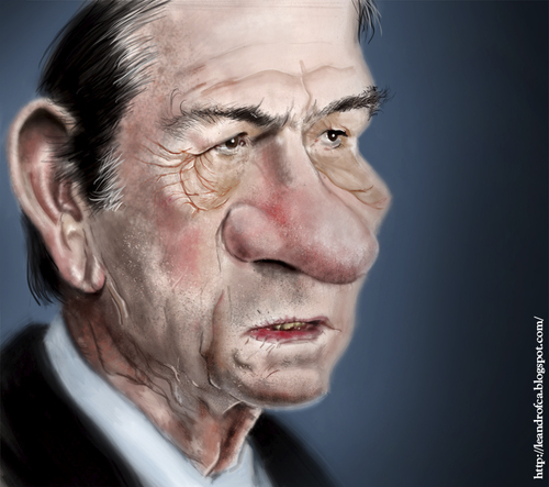 Cartoon: CARICATURA TOMMY LEE JONES (medium) by leandrofca tagged caricature