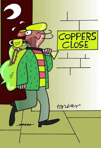 Cartoon: Coppers close. (medium) by daveparker tagged burglar,swag,coppers,