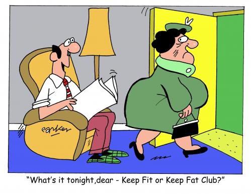 Cartoon: Keep Fit (medium) by daveparker tagged keep,fit,fat