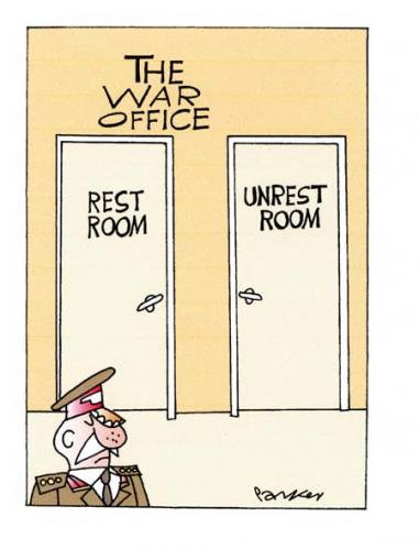 Cartoon: The War Office. (medium) by daveparker tagged military