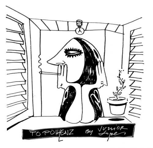 Cartoon: dedicated to Pohlenz (medium) by juniorlopes tagged cartoon