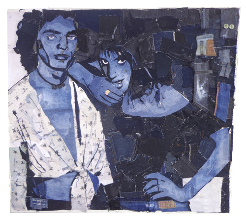 Cartoon: Mapplethorpe and Patti Smith (medium) by juniorlopes tagged mapplethorpe,mapplethorpe