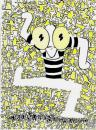 Cartoon: Keith Haring (small) by juniorlopes tagged keityh