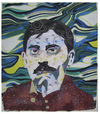Cartoon: Marcel Proust (small) by juniorlopes tagged literature,marcel,proust