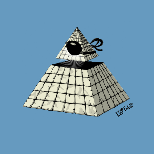Cartoon: The all seeing eye (medium) by LeeFelo tagged cult,ancient,pyramid,esoteric,symbol,conspiracy