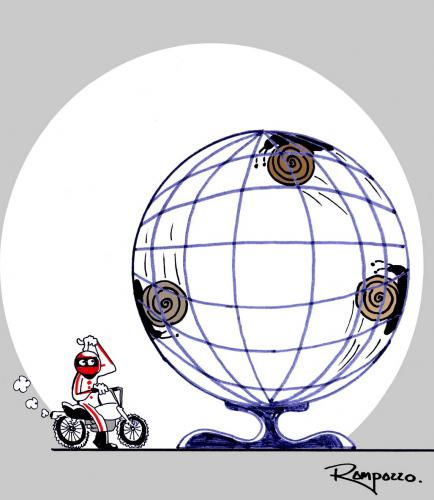 Cartoon: Globe of Death (medium) by Marcelo Rampazzo tagged globe,of,death,