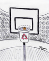 Cartoon: Decisive moment (small) by Marcelo Rampazzo tagged decisive,moment,recicle,basket,garbage