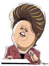 Cartoon: Dilma Rousseff (small) by Marcelo Rampazzo tagged dilma,roussef,politics,brazil,president