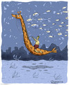 Cartoon: Evolution (small) by Marcelo Rampazzo tagged giraffes,marine