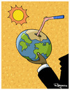 Cartoon: In a hot day (small) by Marcelo Rampazzo tagged global,warming