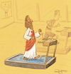 Cartoon: Jesus training (small) by Marcelo Rampazzo tagged jesus,gym,training,rum,water