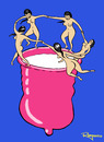 Cartoon: mating dance (small) by Marcelo Rampazzo tagged mating,dance,matisse,sex,love,condon,aids