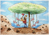 Cartoon: Mother Nature (small) by Marcelo Rampazzo tagged nature,trees,ecology,human,bean