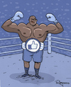 Cartoon: Mr Like Tyson (small) by Marcelo Rampazzo tagged champion,boxe,facebook,likes