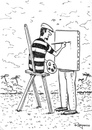 Cartoon: Plain Air painting (small) by Marcelo Rampazzo tagged painting,surreal,plain,air