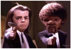 Cartoon: Pulp Fiction (small) by Marcelo Rampazzo tagged pulp,fiction,movies,cinema,actor,jonh,travolta,samuel,jackson