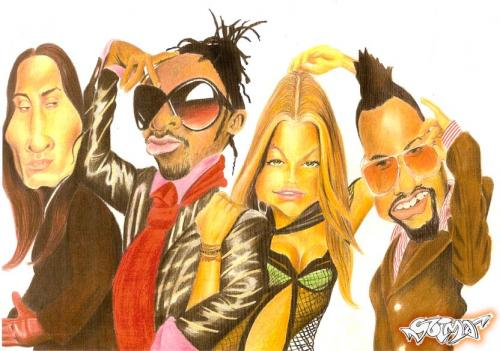 Cartoon: THE BLACK EYED PEAS (medium) by guima tagged guima